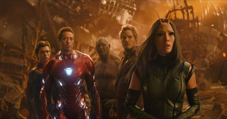 Several Guardians disintegrated in Avengers: Infinity War, including Drax, Mantis, and Star-Lord