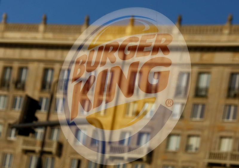 Burger King logo is seen in a restaurant in Warsaw