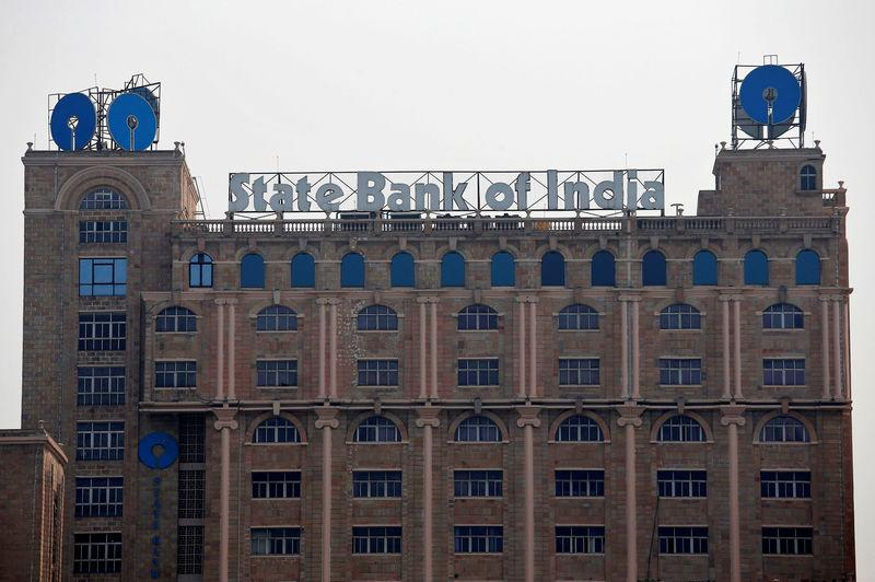 FILE PHOTO The State Bank of India (SBI) office building is pictured in Kolkata