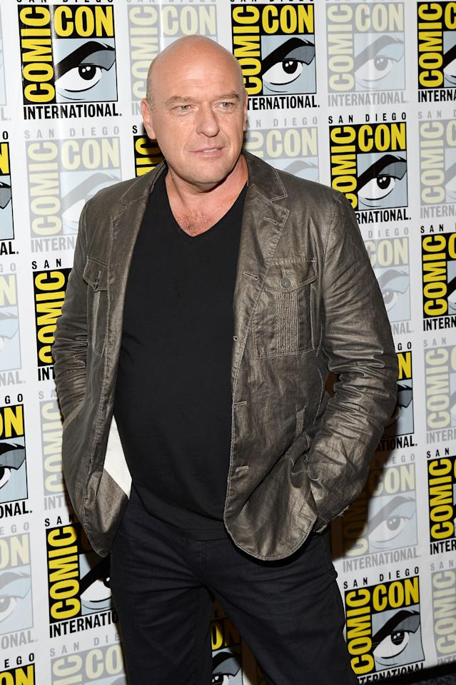 "SAN DIEGO, CA - JULY 20: Actor Dean Norris attends ""Under The Dome"" Press Line during Comic-Con International 2013 at Hilton Bayfront on July 20, 2013 in San Diego, California. (Photo by Ethan Miller/Getty Images)"