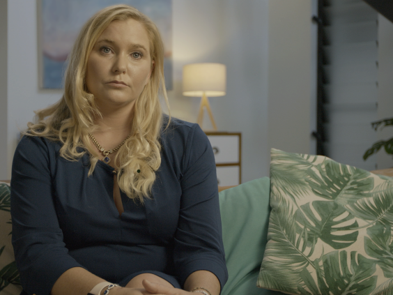 Virginia Giuffre is one of the women who share their testimonies in 'Surviving Jeffrey Epstein'. (Courtesy of Lifetime)