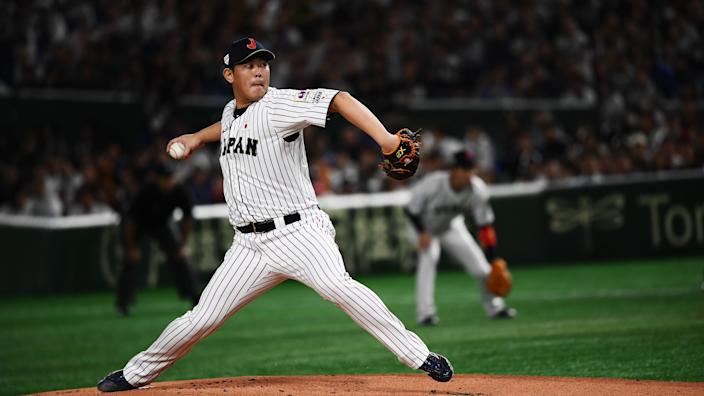 The Blue Jays continue their winter by signing a pitcher out of Japan. (Photo by CHARLY TRIBALLEAU / AFP) (Photo by CHARLY TRIBALLEAU/AFP via Getty Images)