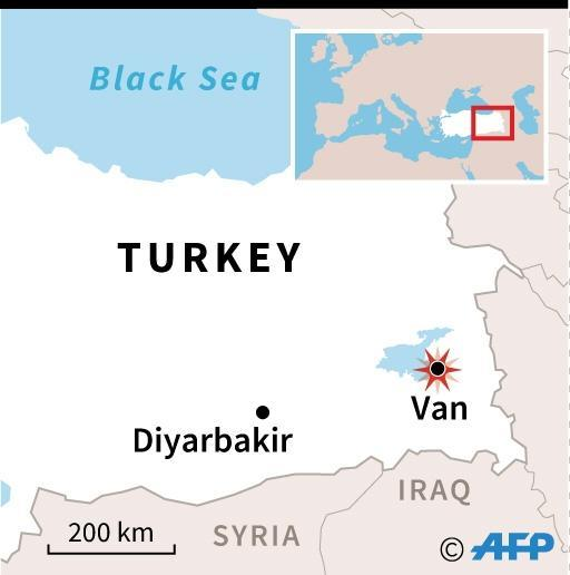 Witnesses said the force of the blast in Van shattered the windows in the surrounding vicinity (AFP Photo/)