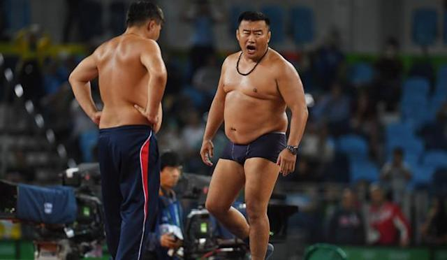 Two Olympic Wrestling Coaches Stripped Down To Their Underwear To Protest A Match