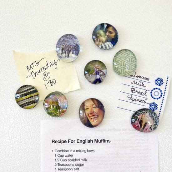 "<p>Make these special <a href=""http://www.popsugar.com/smart-living/How-Make-Picture-Magnets-26848190/"" class=""ga-track"" data-ga-category=""Related"" data-ga-label=""http://www.popsugar.com/smart-living/How-Make-Picture-Magnets-26848190/"" data-ga-action=""In-Line Links"">magnets</a> out of holiday cards and photos. </p>"