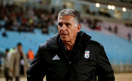 FILE PHOTO: International Friendly - Tunisia v Iran - Rades, Tunisia - March 23, 2018. Iran's coach Carlos Queiroz looks on. REUTERS/Zoubeir Souissi/File Photo