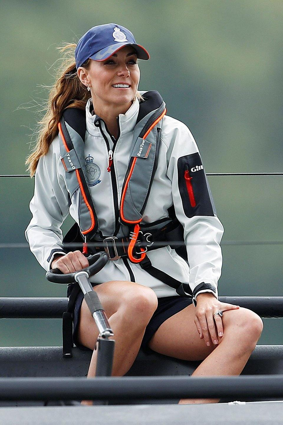 Will and Kate sailing