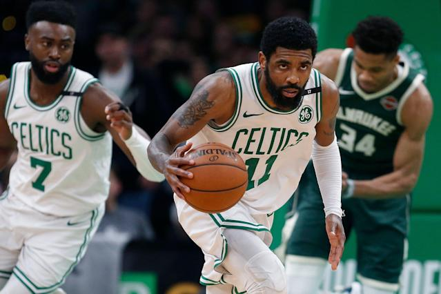 Dan Gilbert isn't the only one who expects Kyrie Irving to leave the Celtics. (AP)