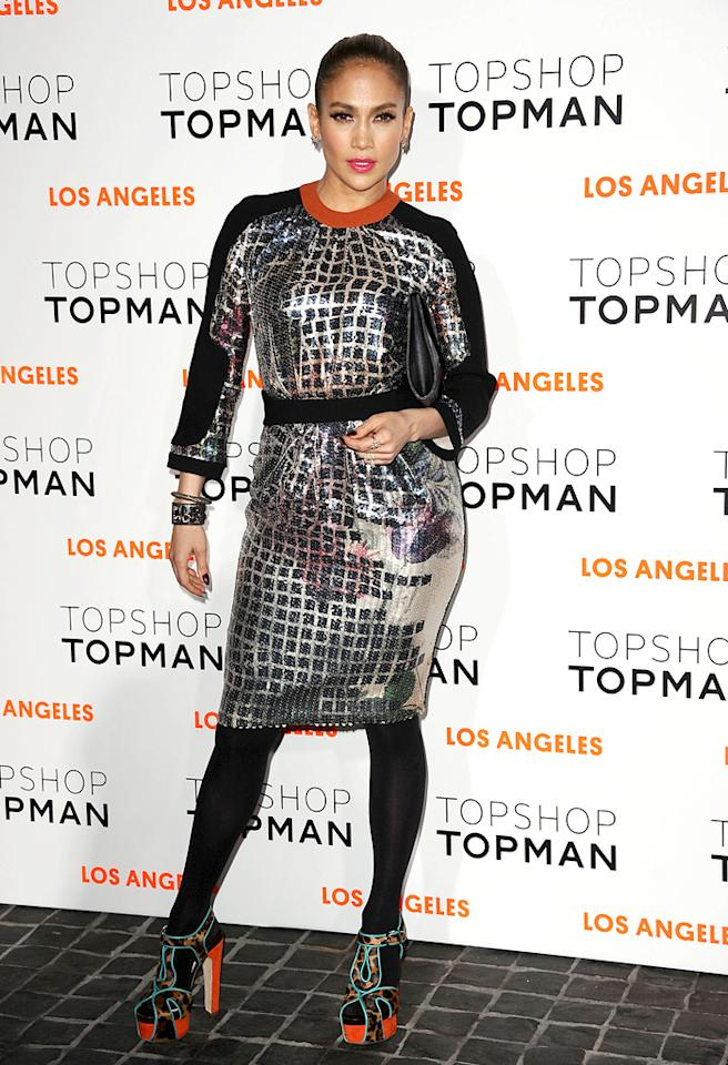 LOS ANGELES, CA - FEBRUARY 13: Jennifer Lopez attends the Topshop Topman LA flagship store opening party at Cecconi's Restaurant on February 13, 2013 in Los Angeles, California. (Photo by Jason LaVeris/FilmMagic)