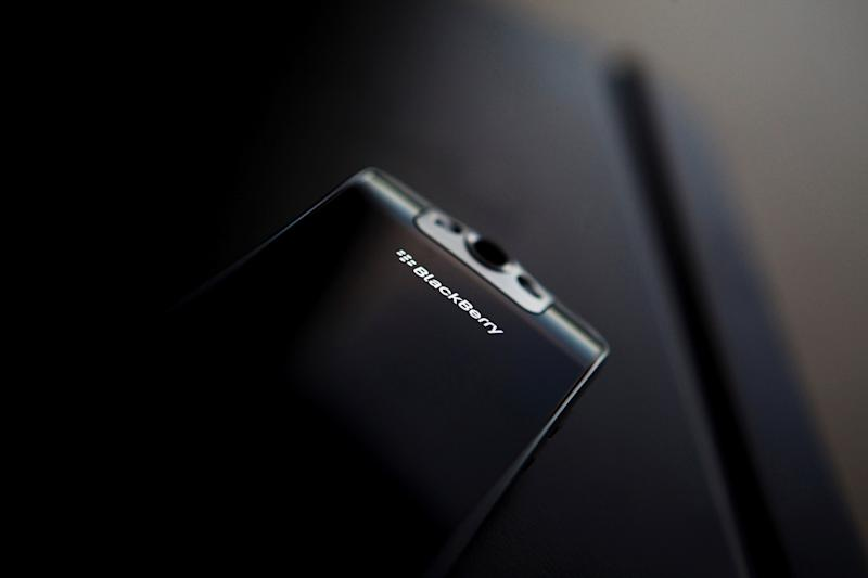 FILE PHOTO - A posed Blackberry smartphone is seen at the Research in Motion (RIM) headquarters in Waterloo