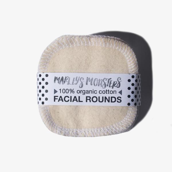 """<h2>Marley's Monsters Reusable Cotton Rounds</h2><br>Green also uses reusable cotton rounds to sweep on skincare (and remove makeup). Unlike disposable rounds, these can be washed with your laundry for continued use. <br><br><strong>Marleys Monsters</strong> Cotton Facial Rounds - 20 pack, $, available at <a href=""""https://go.skimresources.com/?id=30283X879131&url=https%3A%2F%2Fpackagefreeshop.com%2Fproducts%2Forganic-cotton-facial-rounds-20-pack"""" rel=""""nofollow noopener"""" target=""""_blank"""" data-ylk=""""slk:Package Free"""" class=""""link rapid-noclick-resp"""">Package Free</a>"""