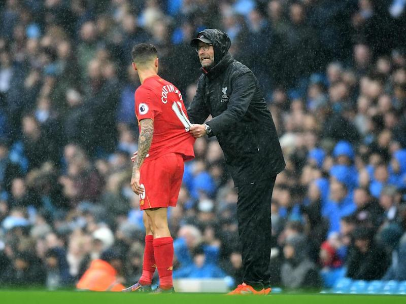 Klopp cut an animated figure on the touchline (Getty)