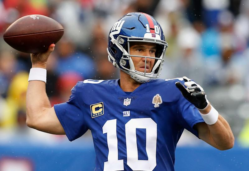 158aba74a79 No, that's not a Darth Vader patch on Eli Manning's uniform