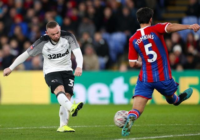 Wayne Rooney was making his second appearance for Derby