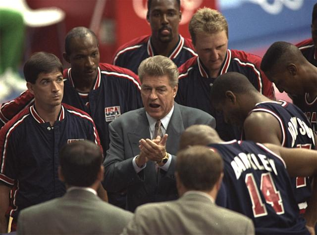 Detroit Pistons coach Chuck Daly was the leader of the first Dream Team. (AP)