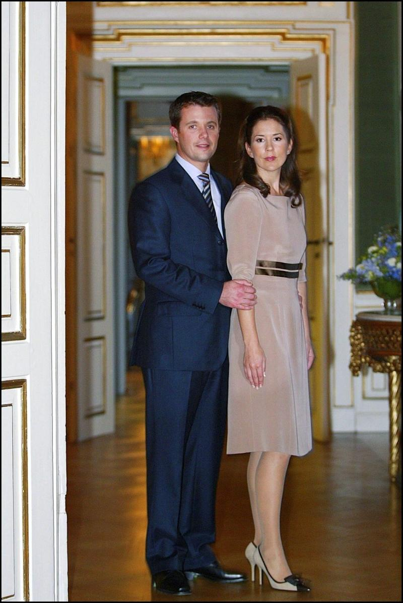 She said moving to Denmark was a massive change for her in 2004. Here she is pictured with Prince Frederik at their engagement shoot. Photo: Getty Images