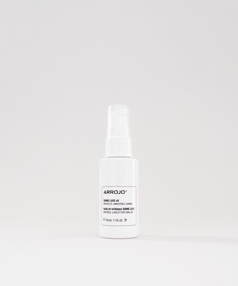 """<h3><strong>Arrojo</strong> Shine Luxe Oil</h3> <br>This oil uses rich emollients to combat frizz and amp up shine. Vitamin B5, jojoba-seed oil, sodium hyaluronate, and sweet-almond oil work together to ward off the effects of humidity, and can also serve as heat-protectants.<br><br><strong>Arrojo</strong> SHINE LUXE oil, $, available at <a href=""""https://go.skimresources.com/?id=30283X879131&url=https%3A%2F%2Farrojonyc.com%2Fshop%2Fshine-luxe-oil"""" rel=""""nofollow noopener"""" target=""""_blank"""" data-ylk=""""slk:Arrojo"""" class=""""link rapid-noclick-resp"""">Arrojo</a><br>"""