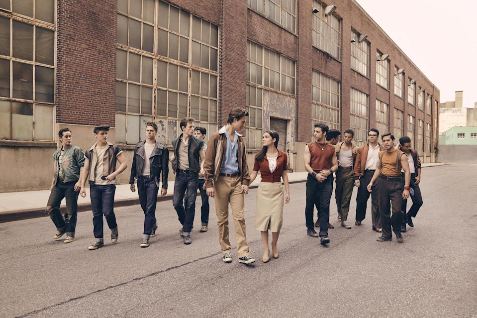 <p>Delayed a year, Steven Spielberg's <em>West Side Story</em> revival, starring Ansel Elgort and newcomer Rachel Zegler as star-crossed lovers Tony and Maria, hits theaters in December 2021. Also on the docket: the final Daniel Craig James Bond thriller <em>No Time to Die</em> and Scarlett Johansson's <em>Black Widow</em>, among others. </p>