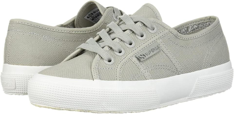 "<h2>38% Off Superga COTU Sneaker</h2><br>These fan-favorite canvas kicks are currently available for a 38%-off steal. As one reviewer states, ""Love Superga shoes. I got these because the color is in between 3 colors: gray, green and beige. So they go well with lots of clothes. Like all Superga, they are slightly wider than an average to thin foot but one can tighten the laces to compensate. They are true to size and overall very comfortable. Great shoes!""<br><br><strong>Superga</strong> COTU Sneaker, $, available at <a href=""https://amzn.to/33wcQNZ"" rel=""nofollow noopener"" target=""_blank"" data-ylk=""slk:Amazon"" class=""link rapid-noclick-resp"">Amazon</a>"