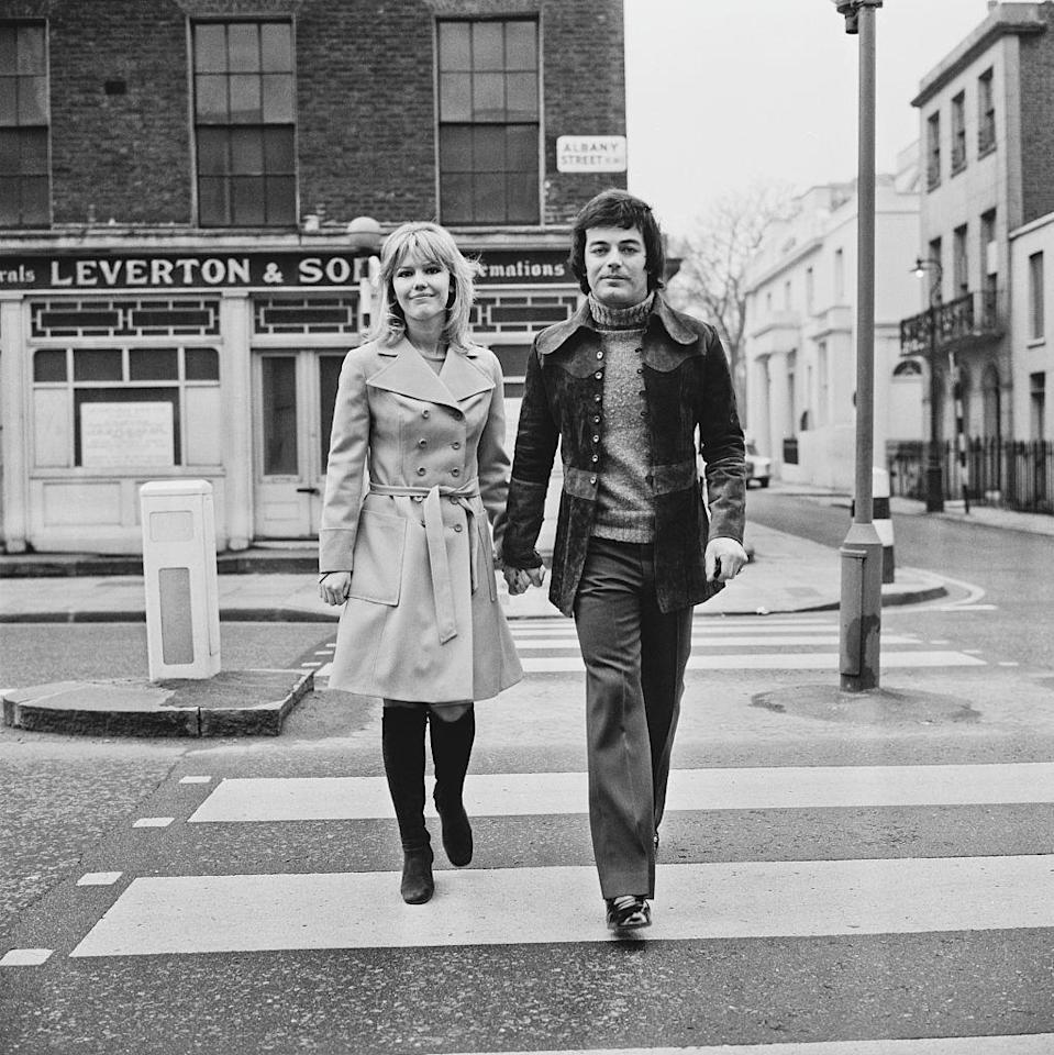 <p>Disc jockey Tony Blackburn with his bride-to-be, English actress Tessa Wyatt, in London, England. </p><p>Other celebrity visitors this year: Tina Turner, the Jackson Five brothers.</p>