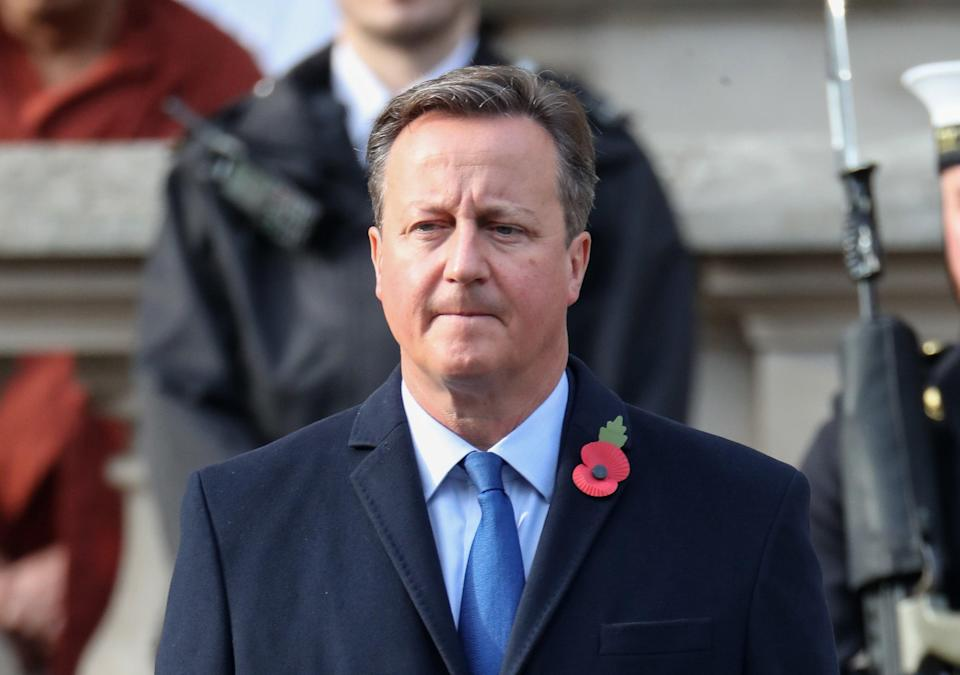 <p>Former prime minister David Cameron is under scrutiny for his dealings with Greensill Capital</p> (Getty)