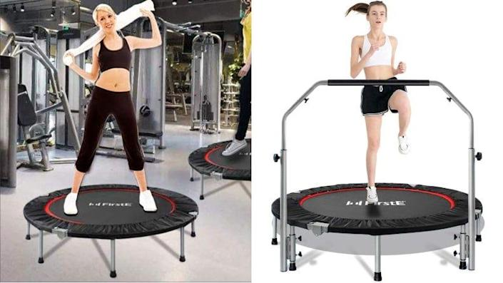 FirstE trampolines are highly rated on Amazon.