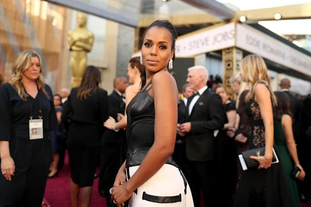 HOLLYWOOD, CA - FEBRUARY 28: Actress Kerry Washington attends the 88th Annual Academy Awards at Hollywood & Highland Center on February 28, 2016 in Hollywood, California. (Photo by Christopher Polk/Getty Images)
