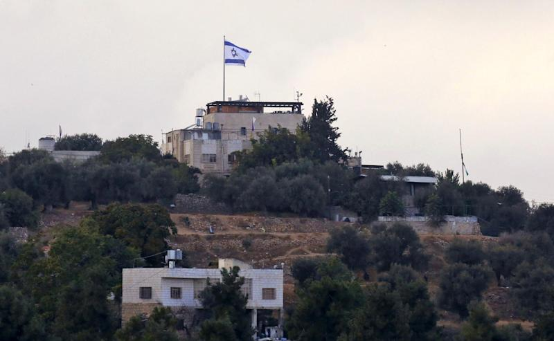 The Israeli settlement of Tal Rumeida in Hebron: AFP/Getty Images