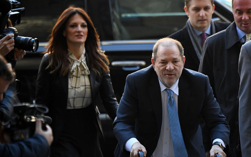 Harvey Weinstein arrives at the Manhattan Criminal Court in New York City - AFP