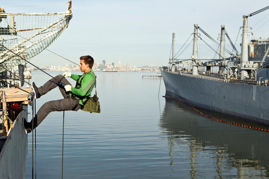 "Filming of the TNT reality game show ""The Great Escape"" on the aircraft carrier the USS Hornet in Oakland, California."