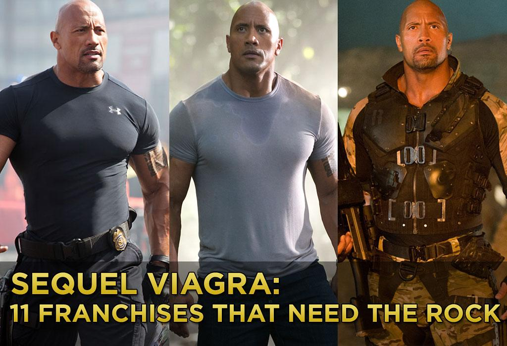 The People's Champ has made a habit of coming in late to an already established franchise, and then helping that film make gobs of money. Because of that skill, we thought of some other films that could use The Rock's help. And so you could more easily visualize what a great addition he'd make, we inserted The Rock into a still from each film.