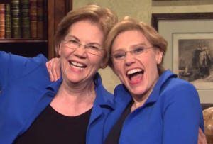 snl elizabeth warren kate mckinnon video