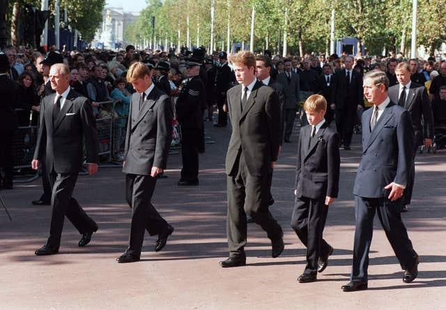 Diana's funeral procession