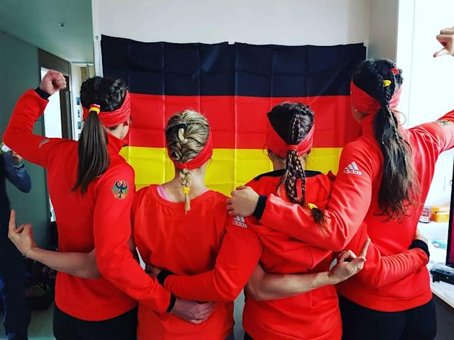 <p>katharinahennig: We are ready to start! (Photo via Instagram/katharinahennig) </p>