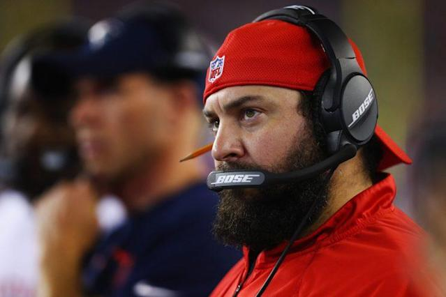 Patriots defensive coordinator Matt Patricia embraces technology, but has an affection for a trusty No. 2 pencil. (Getty Images)
