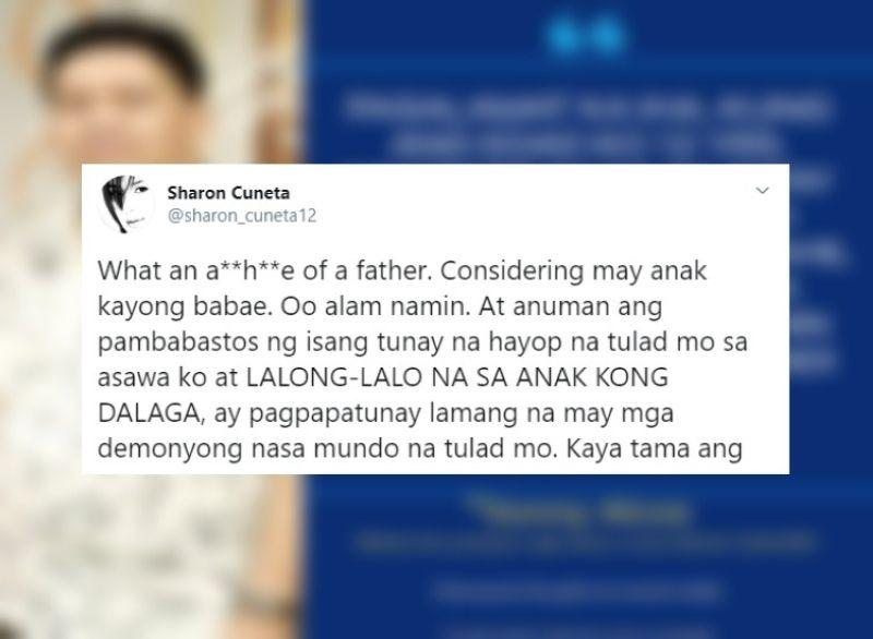 Sharon Cuneta hits back at netizen who says will 'rape' her daughter