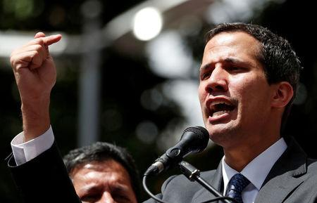 FILE PHOTO: Venezuela's opposition leader Juan Guaido holds a news conference in Caracas
