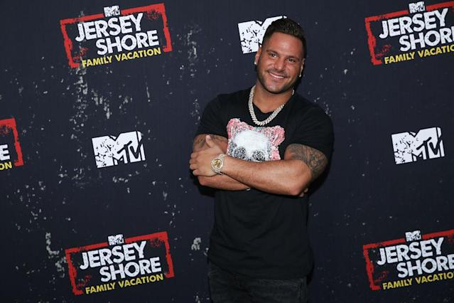 Ronnie Ortiz-Magro at the <em>Jersey Shore Family Vacation</em> premiere on March 29 in L.A. (Photo: Phillip Faraone/FilmMagic)