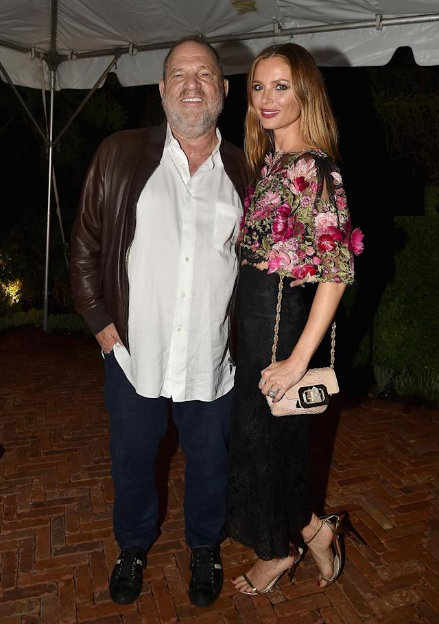 Harvey Weinstein and Georgina Chapman in the Hamptons on Aug. 12. (Photo: Patrick McMullan/Patrick McMullan via Getty Images)