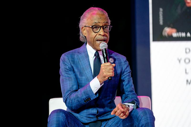 NEW ORLEANS, LOUISIANA - JULY 05: Rev. Al Sharpton speaks during the 25th Essence Festival at the Ernest N. Morial Convention Center on July 05, 2019 in New Orleans, Louisiana. (Photo by Josh Brasted/FilmMagic)