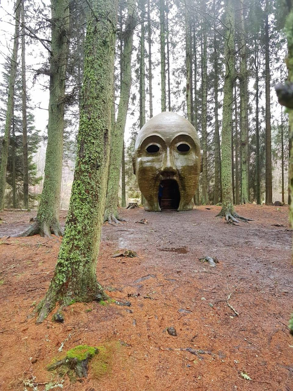 Sigmund Freud Silvas Capitalis (forest head) is a giant timber head located along the Lakeside WayDaniel Hall