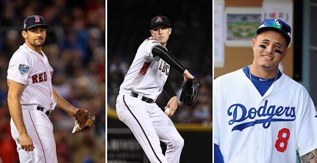 After losing out on Patrick Corbin (center), the Yankees could have their sights on Nathan Eovaldi (left) and Manny Machado (right). (Getty Images)