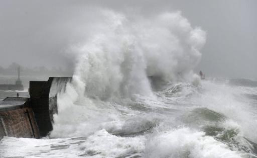 Swathes of northern France were put on orange alert and 130,000 homes had electricity cut off amid fears of coastal storm surges