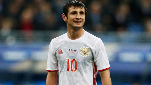 """<p><strong>Alternative option: Jano Ananidze (Georgia)</strong></p> <br><p>It is fair to say that Dzagoev never reached his billing of the being the """"Russian Messi"""", but his insistence of staying in his home country has allowed the talented midfielder to confirm his status as one of best Russians of his generation. The loyal 26-year-old is a three time Premier League winner with CSKA Moscow, as well as taking home a share of the Euro 2012 Golden Boot.</p>"""