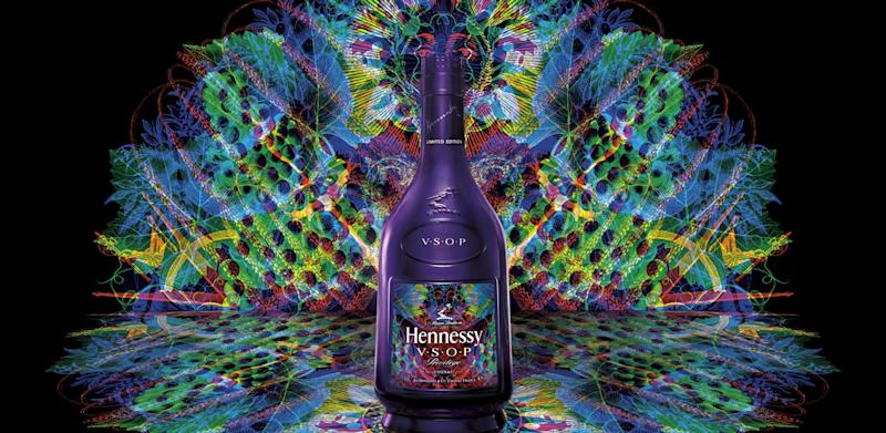 A bottle of Hennessy cognac.