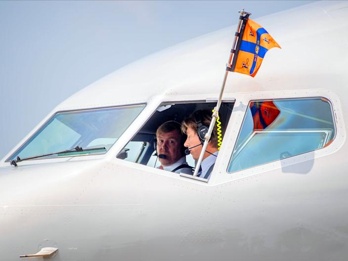 The Netherlands government Boeing BBJ 737 and King Willem-Alexander.