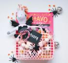 """<p>You don't have to use a pumpkin or a Halloween bucket for your spooky basket. You can find something they'll re-use, like this little purse. If you really want it to be thematic, you can always add a detail like a <a href=""""https://go.redirectingat.com?id=74968X1596630&url=https%3A%2F%2Fwww.etsy.com%2Flisting%2F1085406845%2Fwooden-folk-ghost-custom-halloween-tag&sref=https%3A%2F%2Fwww.goodhousekeeping.com%2Fholidays%2Fhalloween-ideas%2Fg34288815%2Fspooky-basket-ideas%2F"""" rel=""""nofollow noopener"""" target=""""_blank"""" data-ylk=""""slk:wooden ghost tag"""" class=""""link rapid-noclick-resp"""">wooden ghost tag</a>.</p><p><a href=""""https://www.instagram.com/p/CFsxJGVA5IM/"""" rel=""""nofollow noopener"""" target=""""_blank"""" data-ylk=""""slk:See more @snyderfamilyco »"""" class=""""link rapid-noclick-resp""""><em>See more @snyderfamilyco »</em></a></p>"""
