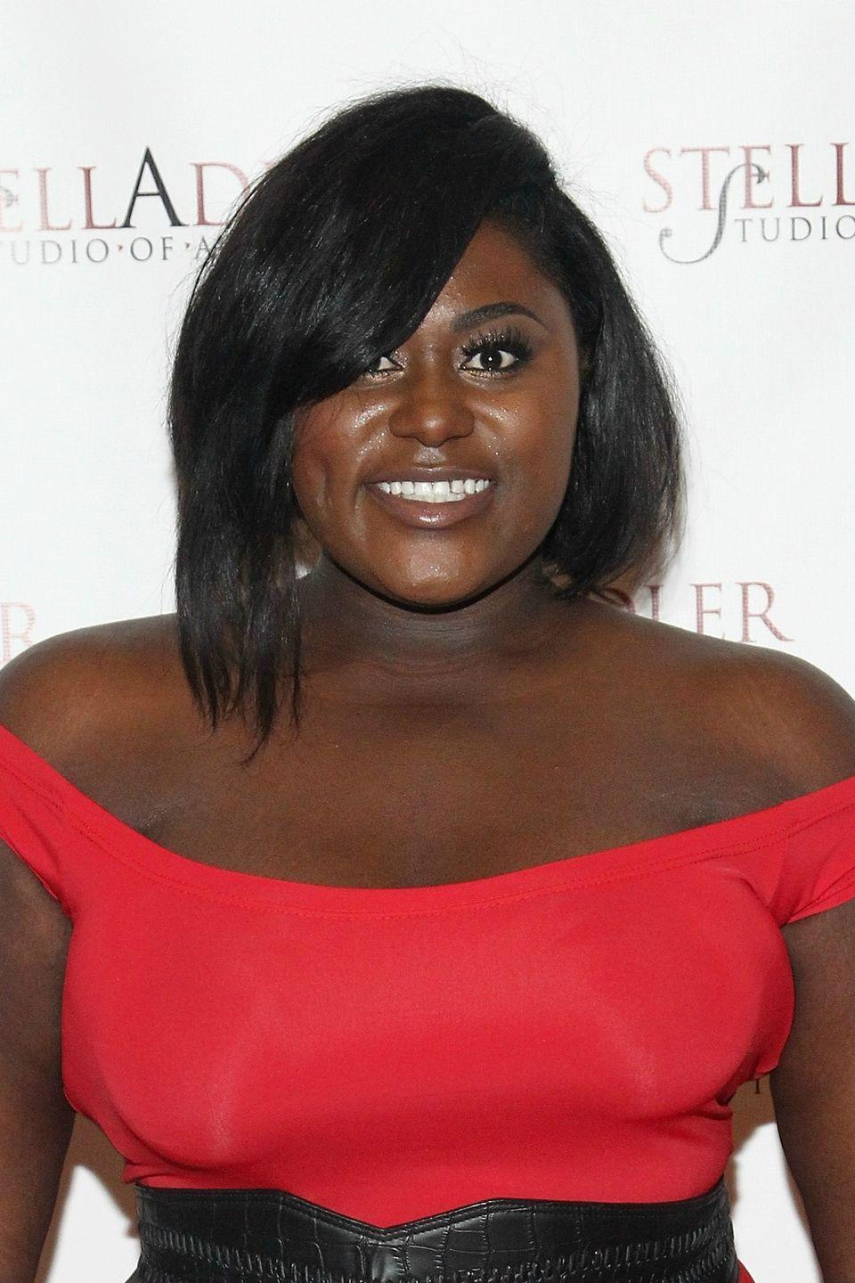 <p>To get this standout polished hairstyle worn by <strong>Danielle Brooks</strong>, ask your stylist to give you an asymmetrical angled bob with swoop bangs.</p>