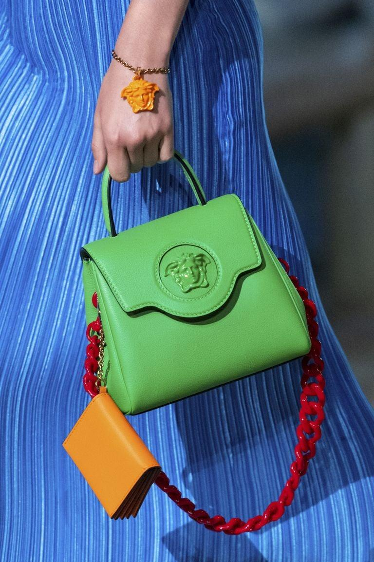 <p>A bag from the Versace spring/summer 2021 runway.</p>