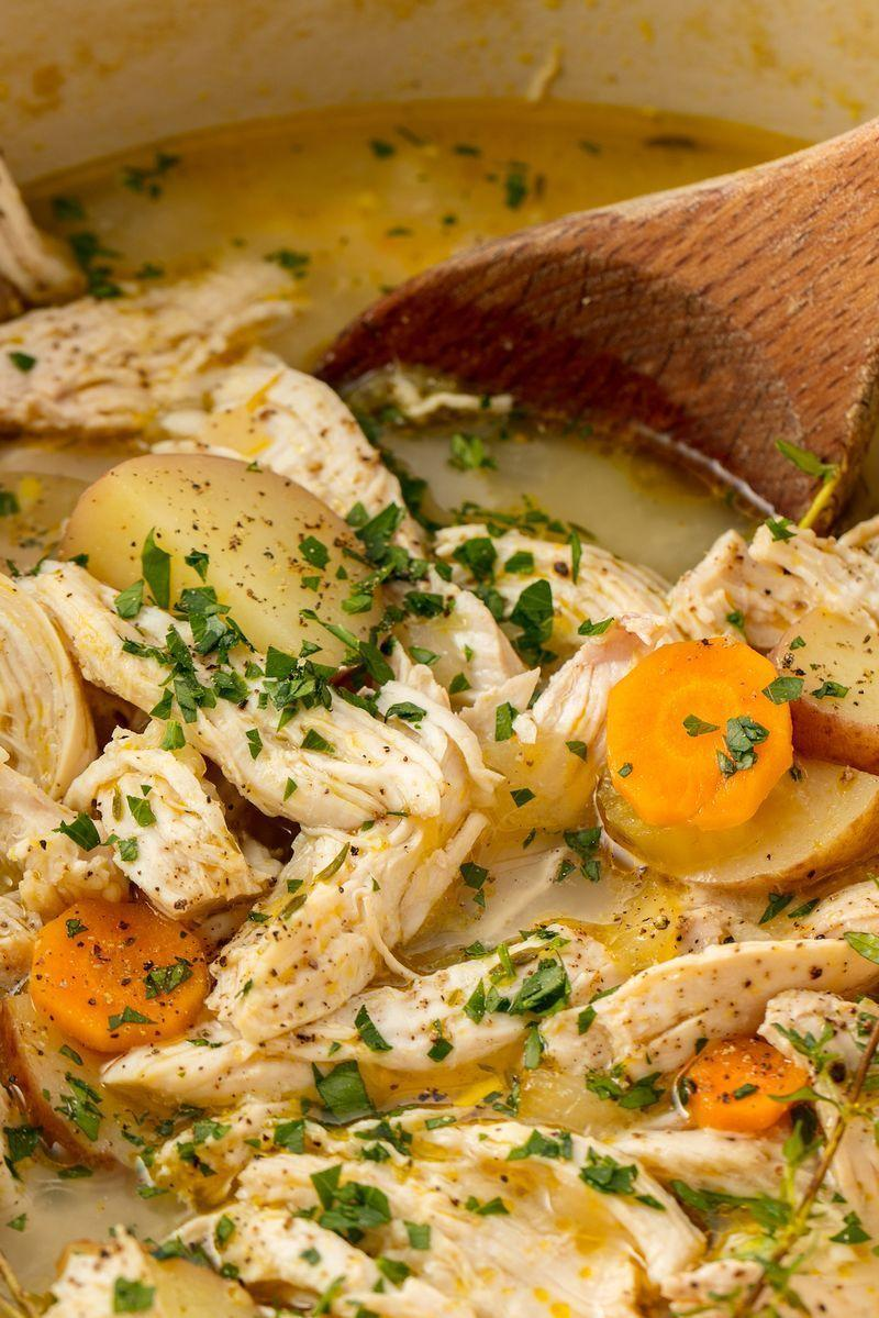"""<p>All of the comfort with none of the work.</p><p>Get the <a href=""""https://www.delish.com/uk/cooking/recipes/a28852674/easy-chicken-stew-recipe/"""" rel=""""nofollow noopener"""" target=""""_blank"""" data-ylk=""""slk:Chicken Stew"""" class=""""link rapid-noclick-resp"""">Chicken Stew</a> recipe.</p>"""